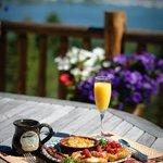 Breakfast over looking Flathead Lake!