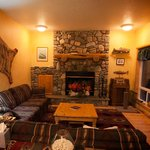 Enjoy the river rock fireplace following a day on the slopes!