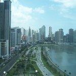 Panama City skyline from the balcony