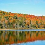 Beautiful Newfound Lake in the fall. The lake is just down the road.