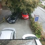 The car park - not the ideal arrangement for the cars