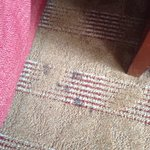 I don't even want to think about what these stains on the carpet - next to the bed - are.   Room