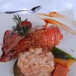 Lobster at Romantic Dinner