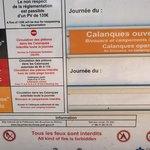 Nationalpark Infotafel beim Eingang Cassis