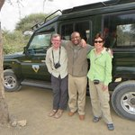 Our wonderful safari guide and the Infinite Horizon vehicle.