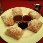 Beignets with three dipping sauces