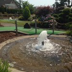 They have great water features on the courses.