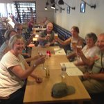 A well earned drink after our tour ( free with the tour)