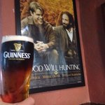 A Black and Tan alongside a poster of Good Will Hunting, which was filmed at the L Tavern