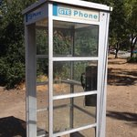 Random phone booth in the park. Didn't see Bill, Ted, or Rufus though.