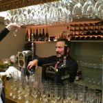 """""""crazy"""" Paul (who we love) manning the bar"""