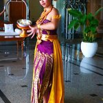 Balinese dancer at entrance