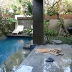 Living area opens straight onto pool