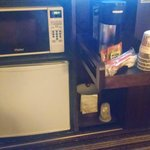 Microwave/fridge/coffee maker