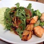 Quinoa salad & side of salmon