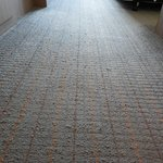 Carpet in wear condition