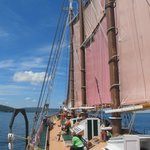 The ship sails for up to two hours in Frenchman's Bay