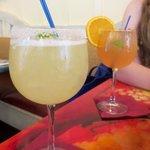 Coconut margarita and wine specials