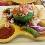 Small plate shrimp serviche