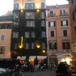 View of the Hotel Campo De Fiori from outside in the Piazza