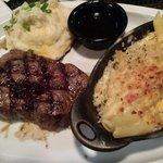 Jack Daniels steak with Mac n cheese