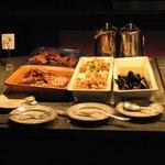 Various caviar at buffet dinner