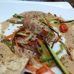 Tuna and red peppercorn sauce