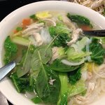 Chicken and vegetable pho