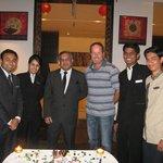 Going away party with cake, thanks Sakthi