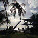 Accès au restaurant et à la plage