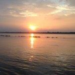 Beautiful sunrise on ghat