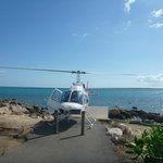 Landing our Bell 206L Longranger at the jetty