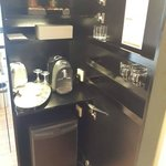Mini bar and and complementary coffee/tea