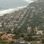 View from a residential street high up in La Jolla