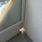 A bit dangerous hole for kids on the balcony