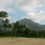 Mountains above Hanalei bay