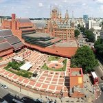 View from 11th floor lift lobby over the British Library and St. Pancras