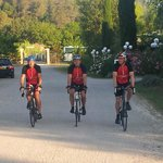 The cyclists start the final leg of their 1000 mile ride to Monte Carlo