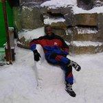 Sentado na cadeira do rei na neve :)