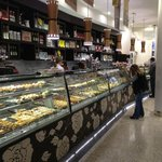 Cabinets of cakes at Brunetti