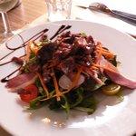 Entrée : salade gisier canard