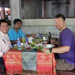 Lunch at Angkor Wat with driver and guide