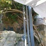 Античная стена открытой террасы