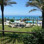 Czy to nie piękny widok z balkonu naszego pokoju ???