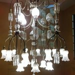 Original chandelier on the way to the function rooms