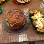Cococabana burger and potates braves!!!! So yummy!!!