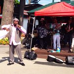 """Local Saratoga Springs band """"Soul Session"""" sings at the track"""