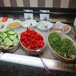 朝食の野菜類
