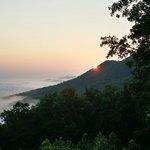 Beautiful sunrise from back deck of Fox Ridge #37