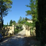 View at the agriturismo from outside the gate